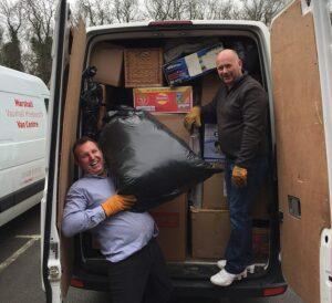 van being packed