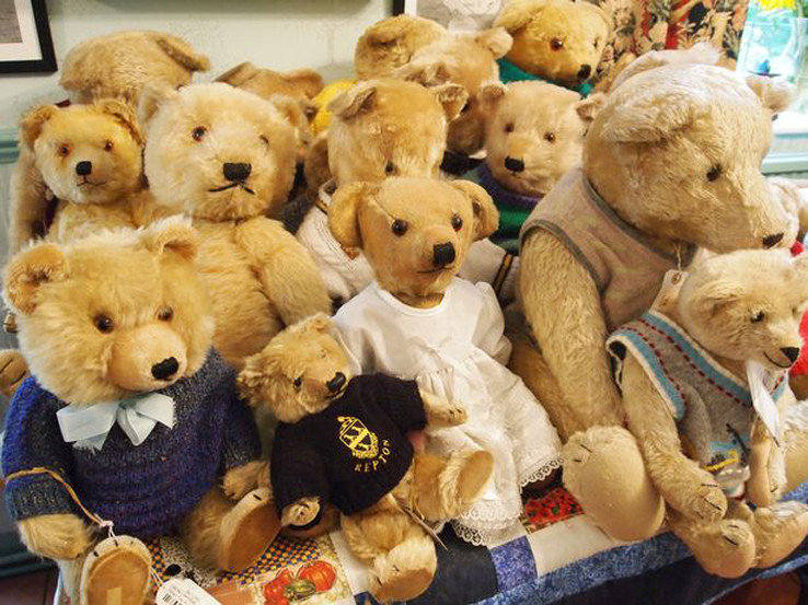 collection of teddy bears for storage
