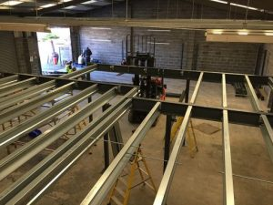 indoor units being constructed