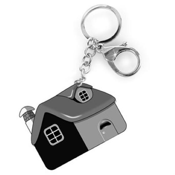 house-shaped property keyring
