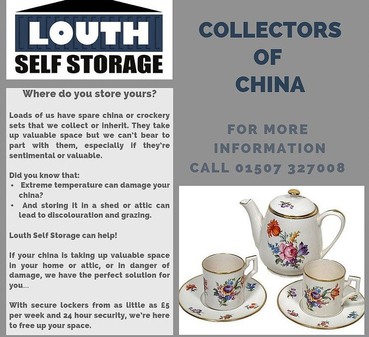 store china and crockery with Louth Self Storage