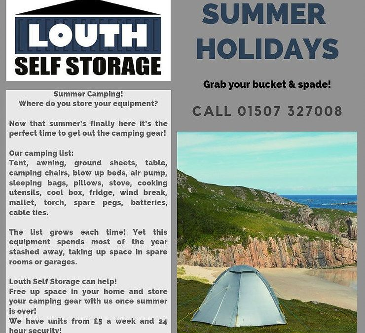 store camping equipment with Louth Self Storage