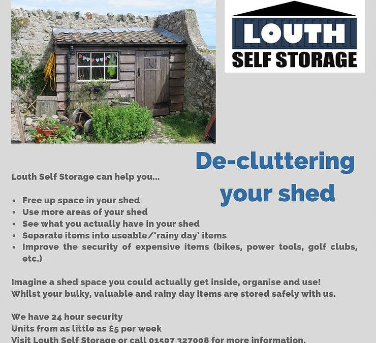 Organise your shed by storing with us
